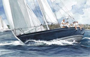 """Ship portraits - Quadro intitolato """"Emeraude"""" - acquerello"""