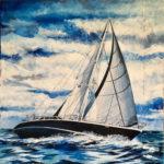 "Eugenio Giaccone - Quadro intitolato ""Guia"" cm. 70x70"