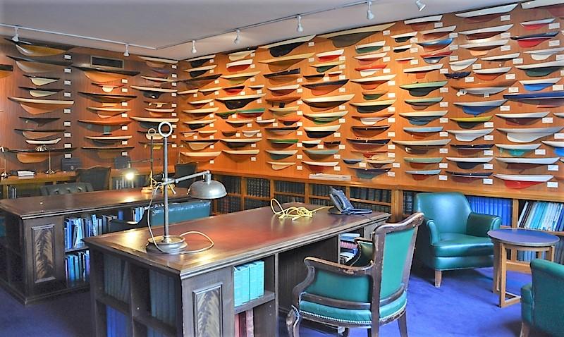 """Model room"" stanza dei modelli del Royal Thames Yacht Club"