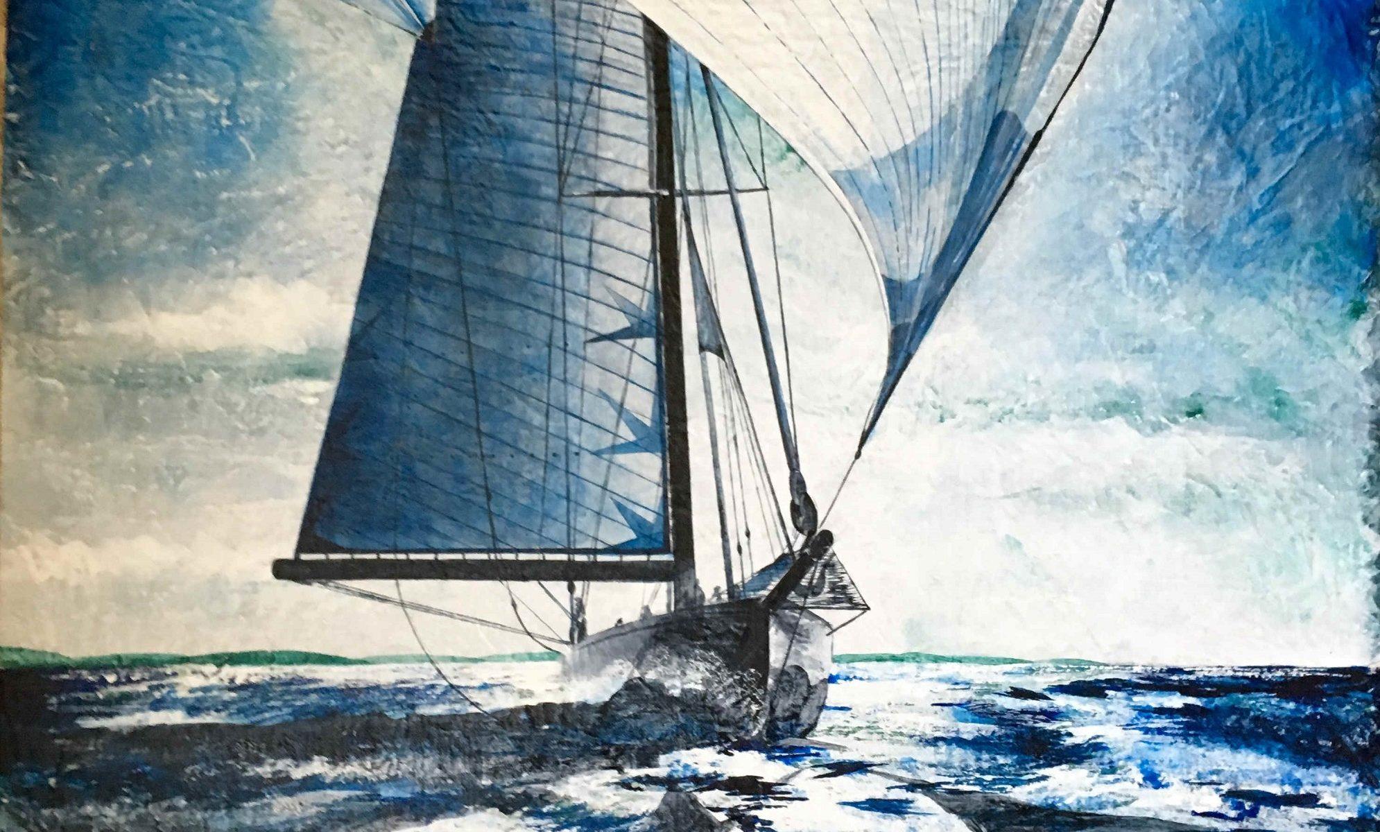 Eugenio Giaccone - quadro intitolato les voiles