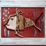 """Teresa Grotteria - quadro intitolato """"pesce in ritratto"""""""
