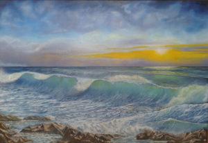 Quadri di mare - Alla fine del giorno - olio su tavola - 100x70cm