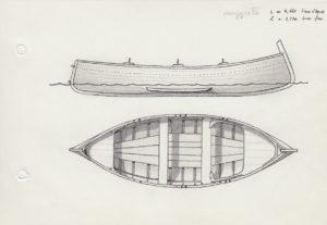 disegni di barche - disegno di gozzo ligure cornigiotto