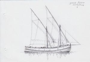 disegni di barche - disegno di feluca sorrentina