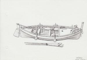 disegni di barche - disegno di gozzo ischitano