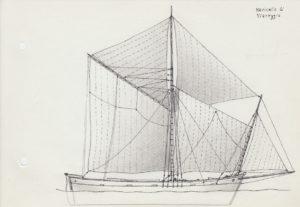 disegni di barche - disegno di navicello di viareggio