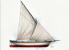disegni di barche - disegno di filuga della sardegna