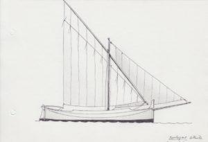 disegni di barche - disegno di spagnoletta di alghero