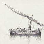 disegni di barche - disegno di gozzo di Trapani