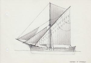 disegni di barche - disegno di tartana viareggina