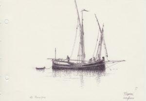 disegni di barche - disegno di schifazzo di Trapani