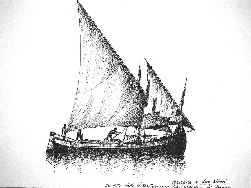 disegni dii barche - disegno di trabaccolo