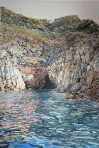"""Enza Viceconte - Acquerello intitolato """"Grotta del mistero"""""""