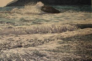 """Enza Viceconte - Acquerello intitolato """"La voce del mare"""""""