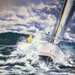 """Eugenio Giaccone - Quadro dal titolo """"Automne dans la mer"""" Dimensioni cm 70x70"""