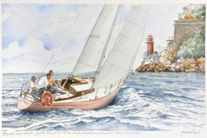 "Ship portraits - Quadro intotolato ""Blow up"" - acquerello"