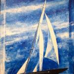 """Eugenio Giaccone - Quadro dal titolo """"J Class 2016"""" Dimensioni cm. 100x70"""