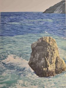 """Enza Viceconte - Acquerello intitolato """"Mare verde di grecale"""""""