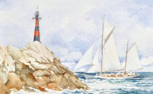 Emanuela Tenti - Costa di Porto Rotondo - acquerello