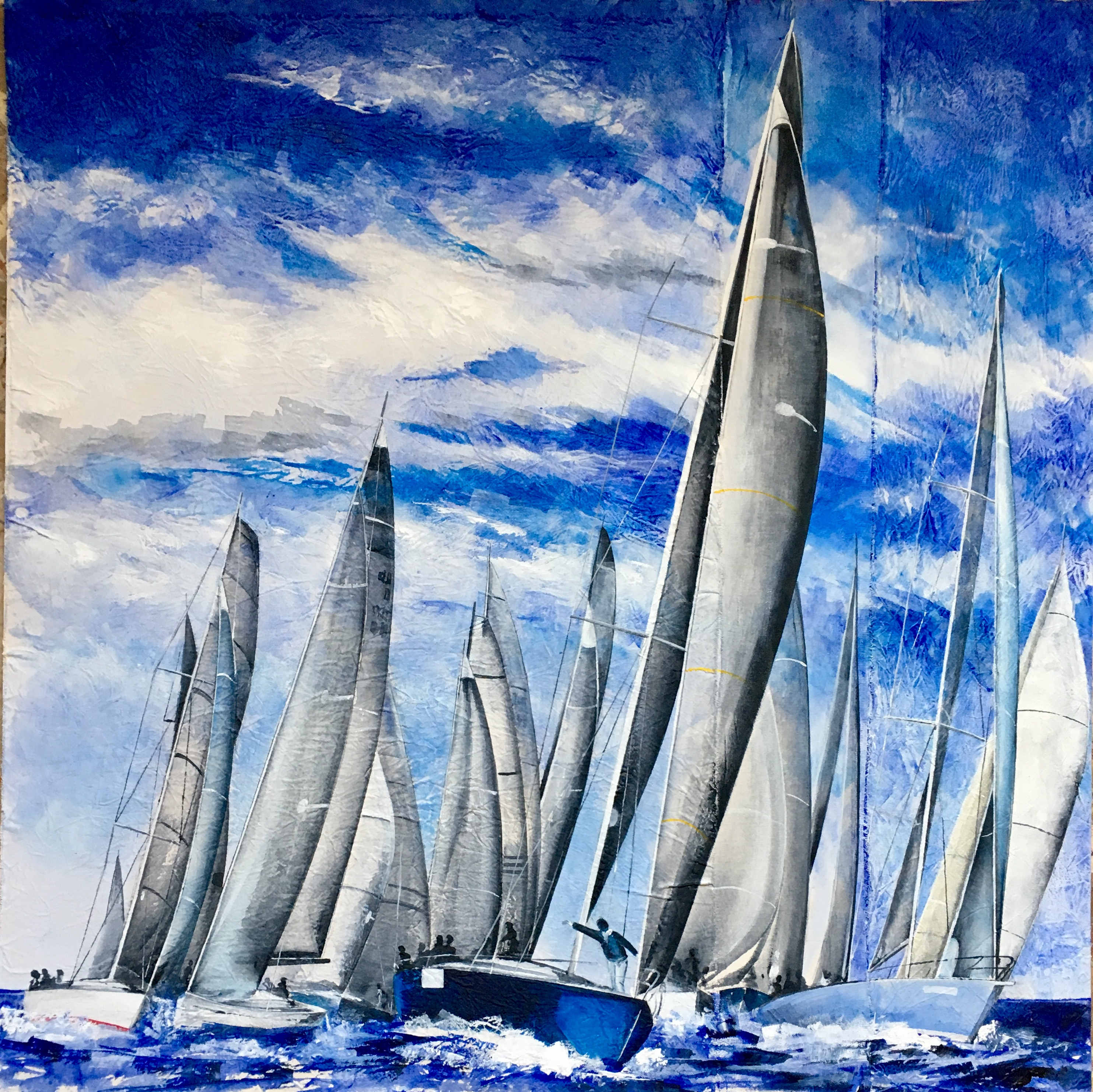 """Eugenio Giaccone - Quadro dl titolo """"Primavera"""" Dimensioni cm. 70x70"""