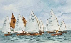 Ship portraits - acquerello raffigurante regata a Riccione