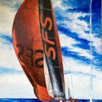 """Eugenio Giaccone - Quadro intitolato """"SFS"""" Dimensioni cm. 100x70"""
