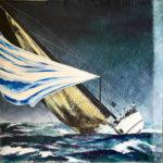 """Eugenio Giaccone - Quadro dal titolo """"Swan Rolex Cup"""" Dimensioni cm. 70x70"""