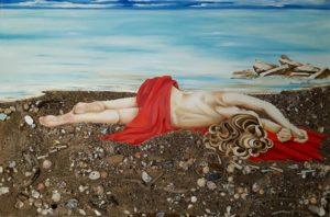 "Teresa Grotteria - dipinto intitolato ""distesa al sole"""