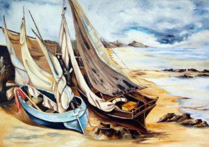 "Teresa Grotteria - dipinto intitolato ""i velieri"""