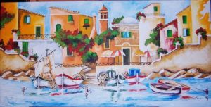"Teresa grotteria - dipinto intitolato ""paesaggio marino 1"""