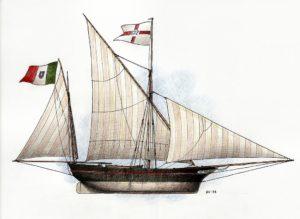 disegni di barche - disegno di bovo ligure