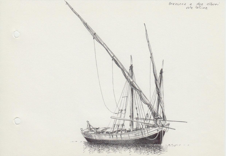 disegni di barche - disegno di brazzera