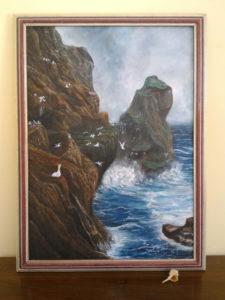 Quadri di mare - Dove nidificano le Sule - olio su tela - 70x50cm