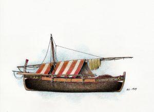 disegni di barche - disegno di gondola toscana