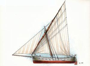 disegni di barche - disegno di leudo rivano