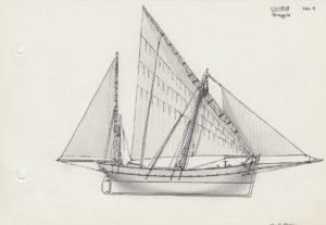 disegni di barche - disegno di pareggia ligure