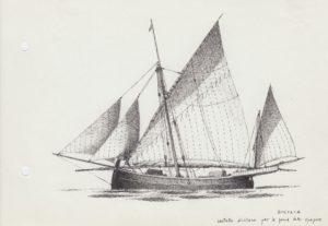 disegni di barche - disegno di lautello siciliano