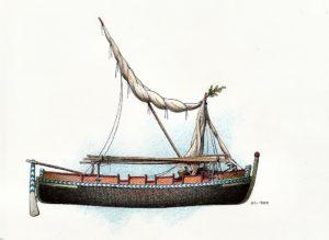 disegni di barche - disegno di gozzo sorrentino