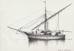 disegni di barche - disegno di tartana di castellammare di stabia
