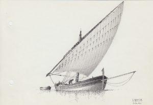 disegni di barche - disegno di leudo ligure