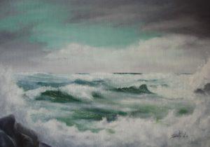 Dipinti di mare - quadro intitolato Dirompente mare - autore Nicola Sciotto