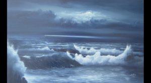 Dipinti di mare - quadro intitolato Faro nella notte - autore Nicola Sciotto