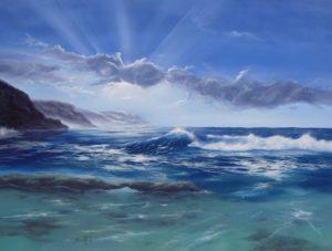 Dipinti di mare - quadro intitolato Marina 3 - autore Nicola Sciotto