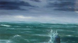 Dipinti di mare - quadro intitolato Orizzonte arcano - autore Nicola Sciotto