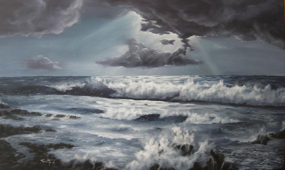 Dipinti di mare - quadro intitolato Riflessi - autore Nicola Sciotto