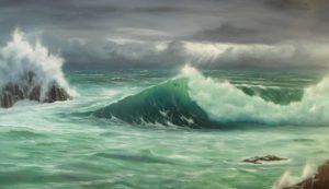 Dipinti di mare - quadro intitolato Travolgente splendore - autore Nicola Sciotto