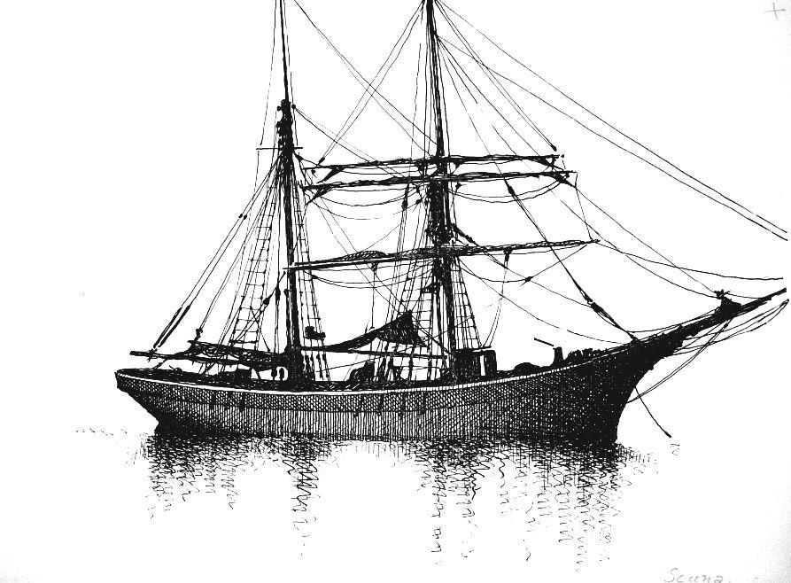 Disegni di barche - disegno di scuna