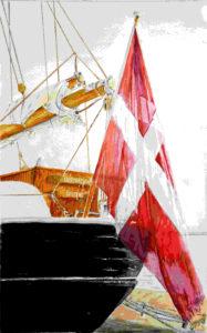 Quadri di barche - Den Store Biorn (l'Orsa Maggiore) – Acquarello puro su carta 37 x 55 cm - Autore Giovanni Marco Sassu