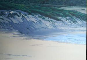 Spiagge della Sardegna - quadro intitolato After the sea storm 2018 . autrice Chiara Pruna