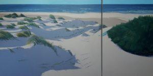 Spiagge della Sardegna - quadro intitolato Dune 2017 -60x120 dittico- autrice Chiara Pruna
